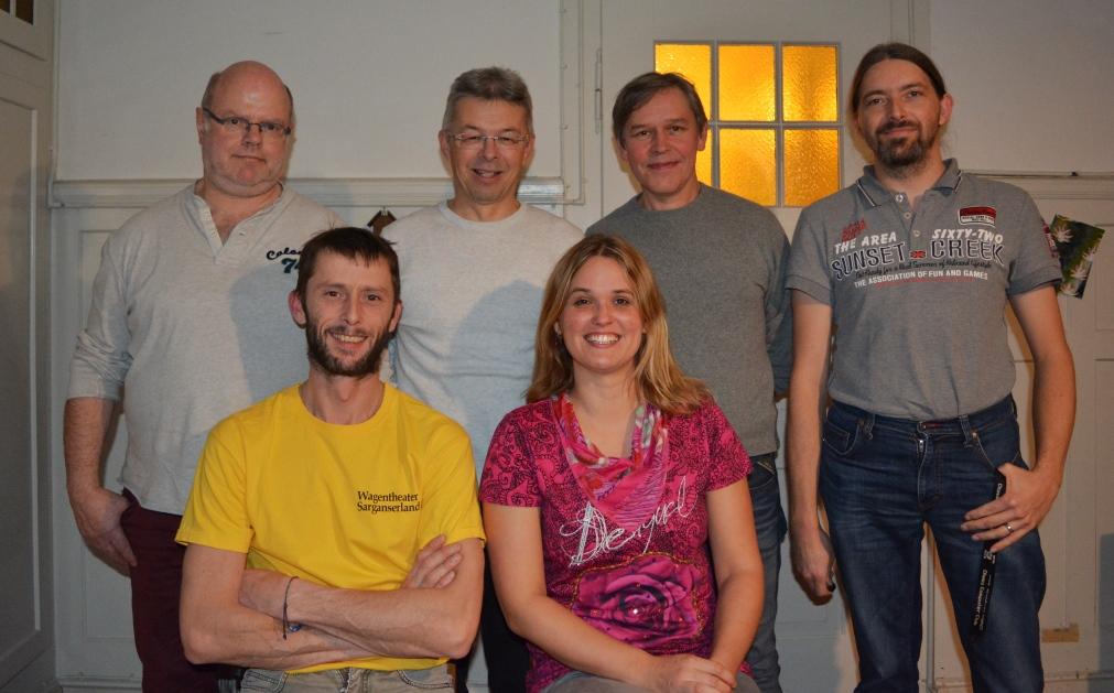 Hinten von rechts nach links: Ivo Linder, Stephan Wildhaber, Marc Stucky, Christoph Züllig Vorne: Tatjana Bänziger, Martin Marmet